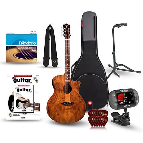 Luna Guitars Gypsy Spalt Grand Auditorium Acoustic-Electric Guitar Bundle-thumbnail