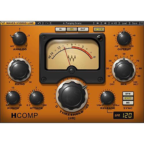 Waves H-Comp Hybrid Compressor  Native/TDM/SG Software Download-thumbnail