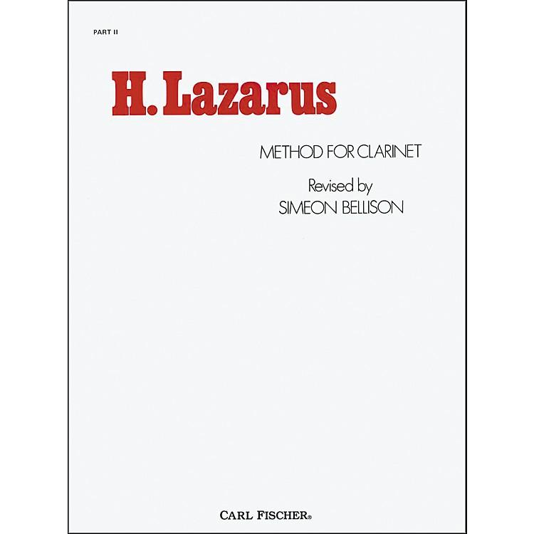Carl FischerH. Lazarus Method for Clarinet: Part II