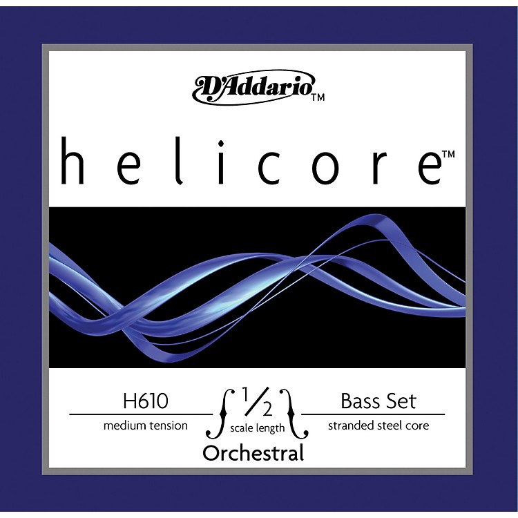 D'Addario H610 Helicore Orchestral 1/2 Size Double Bass String Set