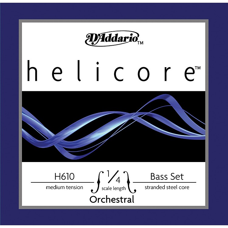 D'Addario H610 Helicore Orchestral 1/4 Size Double Bass String Set