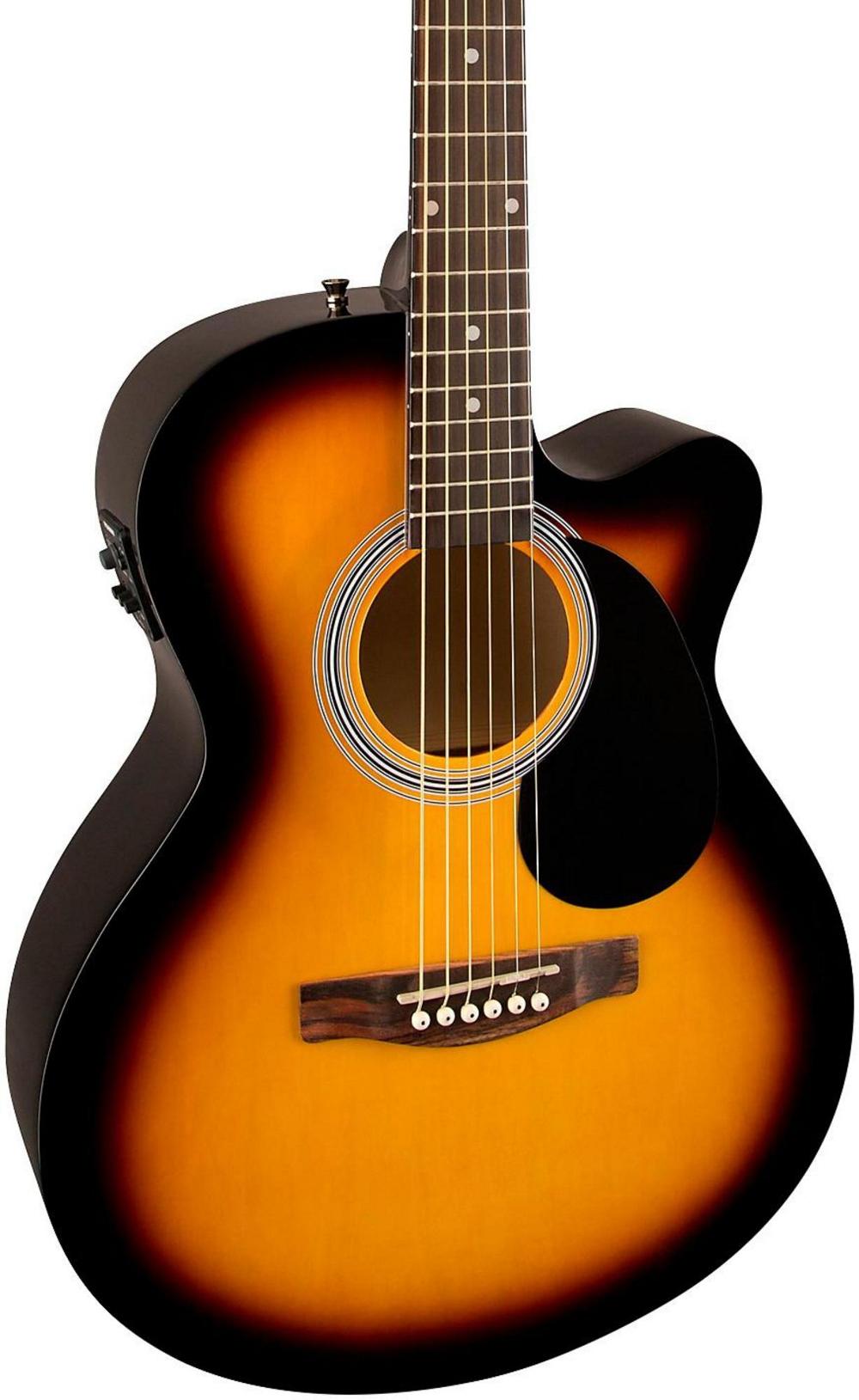 fender fa 135ce cutaway concert acoustic electric guitar 3 color sunburst ebay. Black Bedroom Furniture Sets. Home Design Ideas