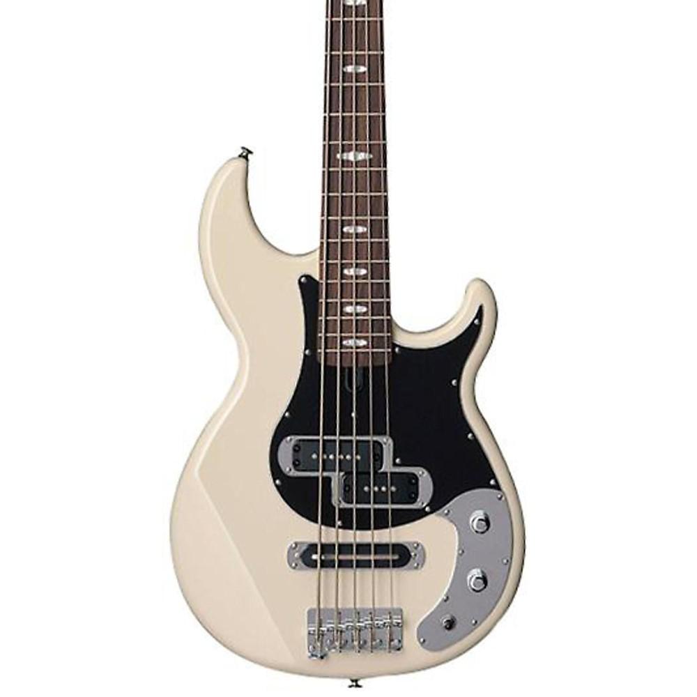 yamaha bb425x 5 string electric bass guitar vintage white ebay. Black Bedroom Furniture Sets. Home Design Ideas