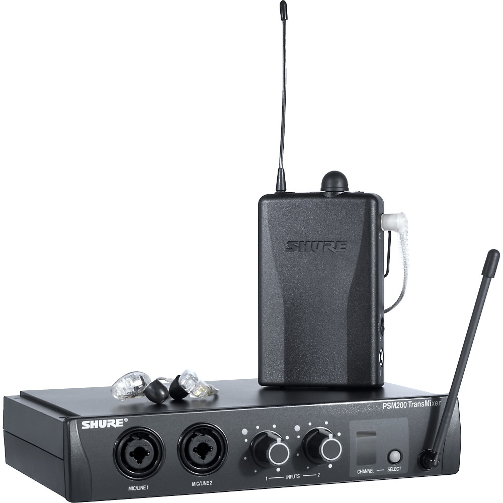 Shure PSM 200 Wireless Personal Monitoring System with SE215 Earphones Clear