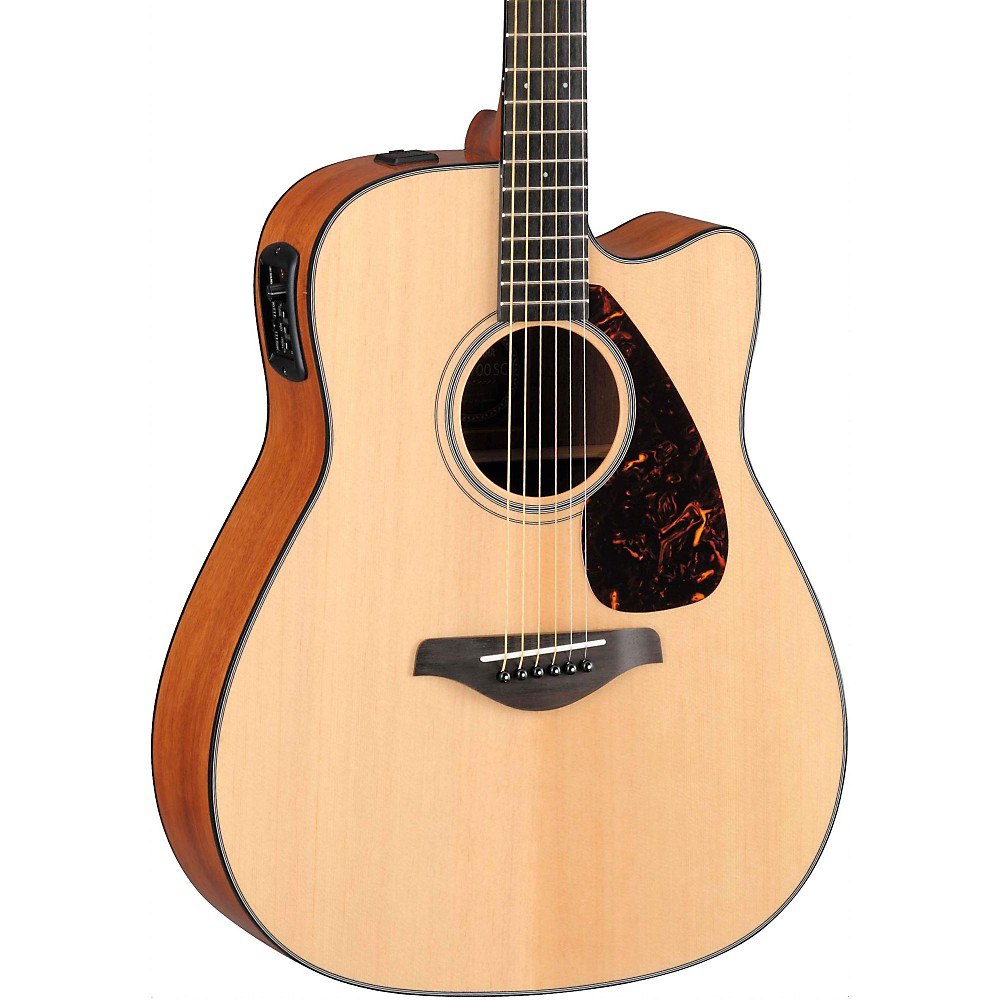 Yamaha fgx700sc solid top cutaway acoustic electric guitar for New yamaha acoustic guitars