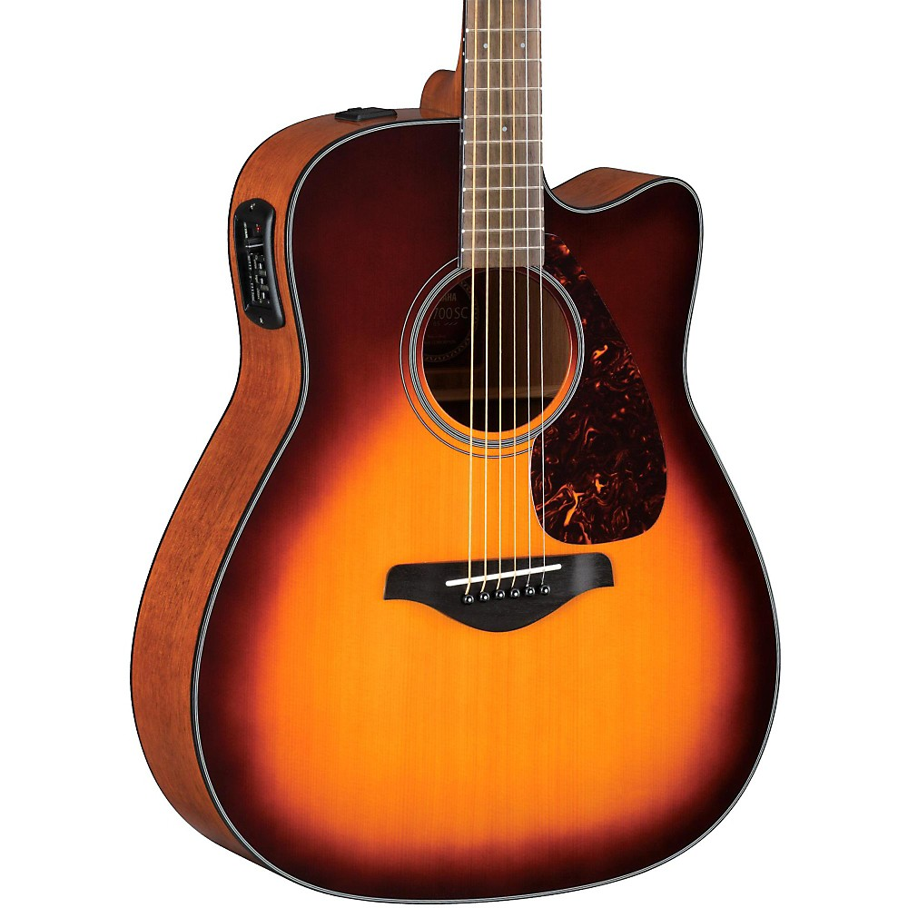 Acoustic yamaha fgx700sc solid top cutaway acoustic for Yamaha solid top