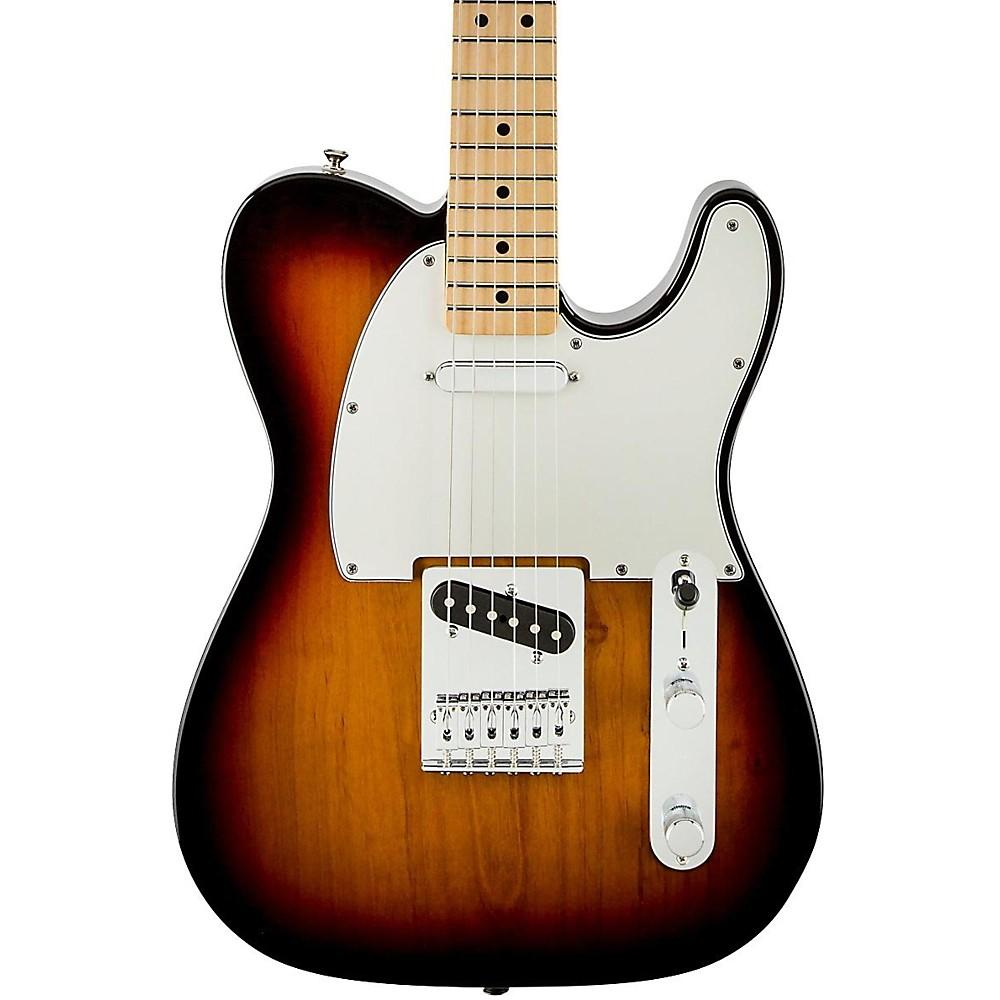 Fender standard telecaster electric guitar brown sunburst gloss maple