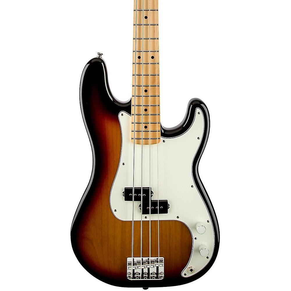 fender standard precision bass guitar brown sunburst gloss maple fretboard ebay. Black Bedroom Furniture Sets. Home Design Ideas