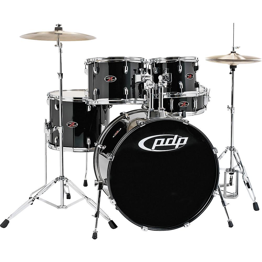 pdp z5 complete drum set with hardware and cymbals carbon black ebay. Black Bedroom Furniture Sets. Home Design Ideas