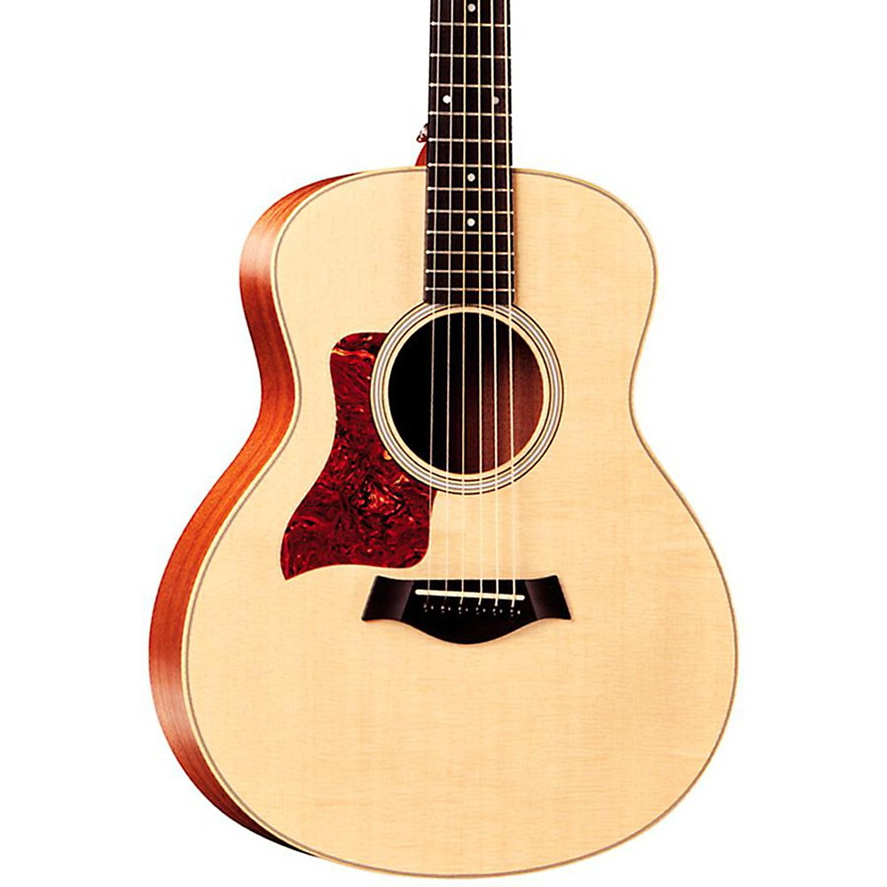 Among Taylor's most accessible guitars is the Baby Taylor, a great acoustic guitar for entry-level players, young guitarists and those who like to travel. This 3/4-sized acoustic guitar comes with an X-braced spruce or mahogany top, the latter of which lends a darker, earthier tone to the sound.