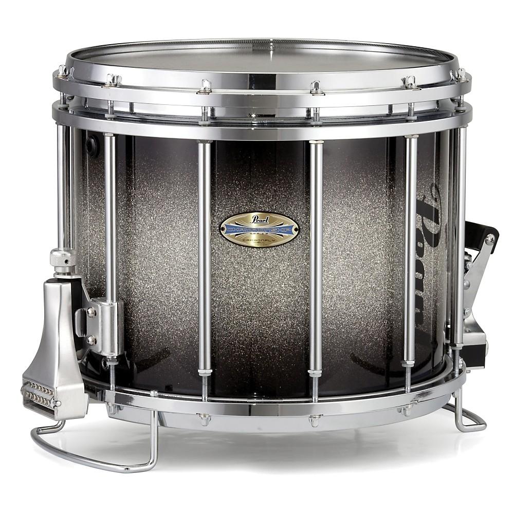 pearl maple carboncore ffx snare drum black silver burst 14x10 ebay. Black Bedroom Furniture Sets. Home Design Ideas