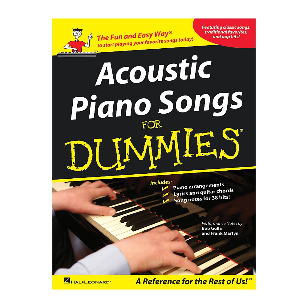 Hal Leonard Acoustic Piano Songs For Dummies
