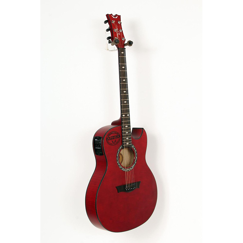 dean exhibition flame maple acoustic electric guitar trans red 888365576626 ebay. Black Bedroom Furniture Sets. Home Design Ideas