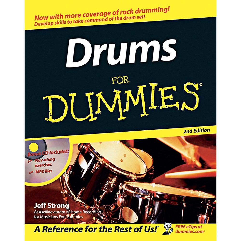 Mel Bay Drums for Dummies, 2nd Edition Book/CD Set