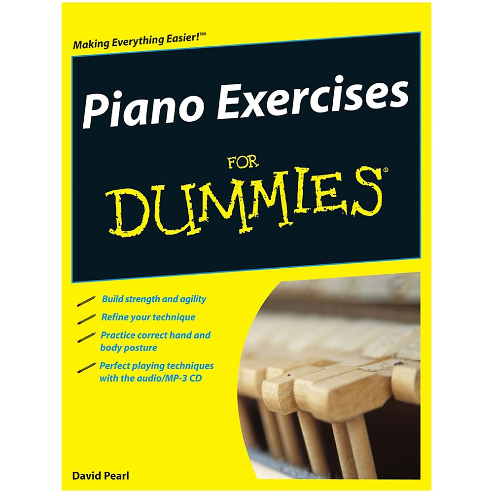 Mel Bay Piano Exercises for Dummies Book/CD Set