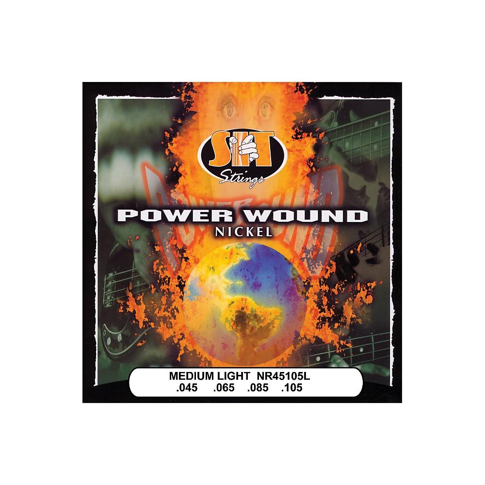 Sit Strings Nr45105l Medium Light Power Wound Nickel Bass Strings