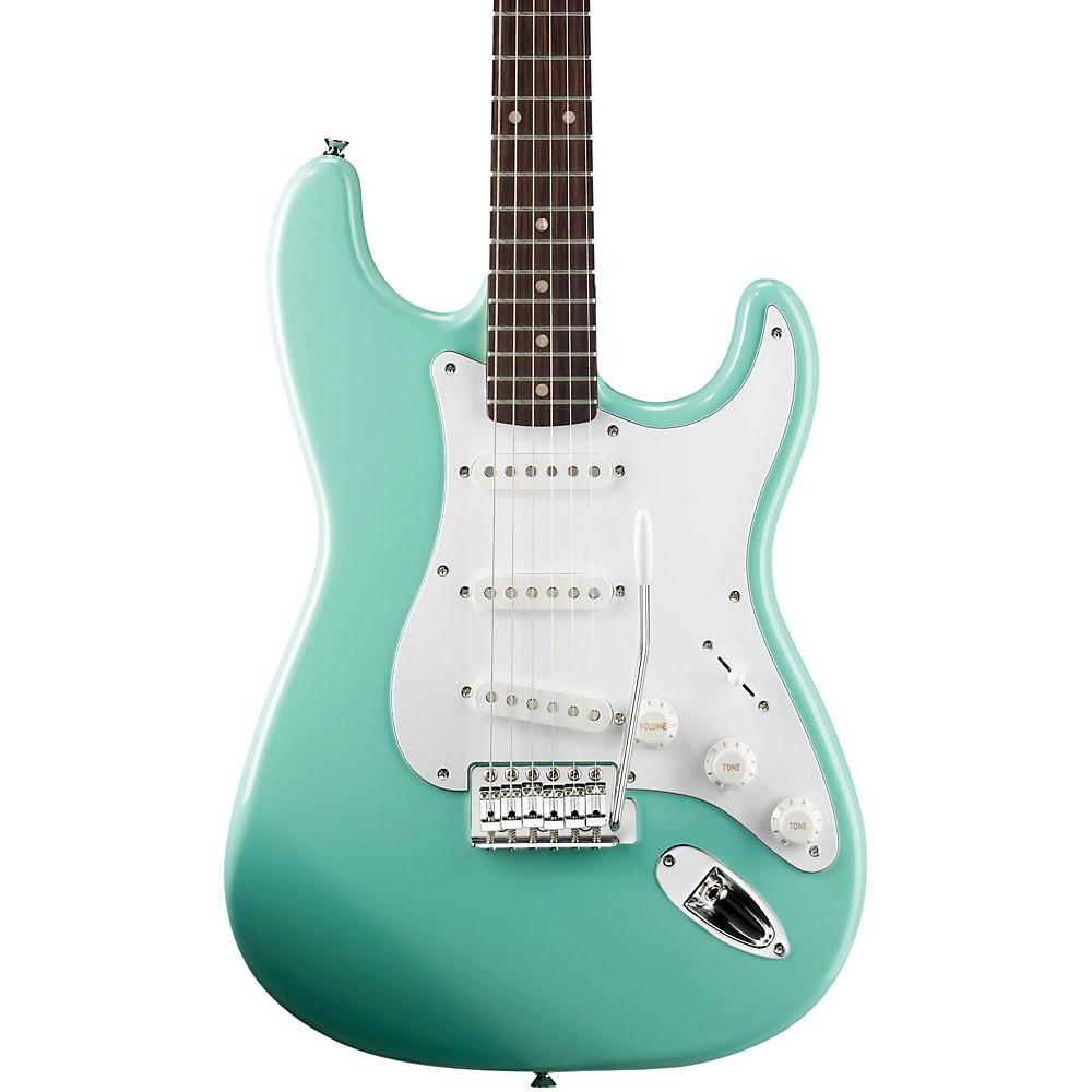 squier affinity stratocaster electric guitar surf green rosewood fingerboard ebay. Black Bedroom Furniture Sets. Home Design Ideas