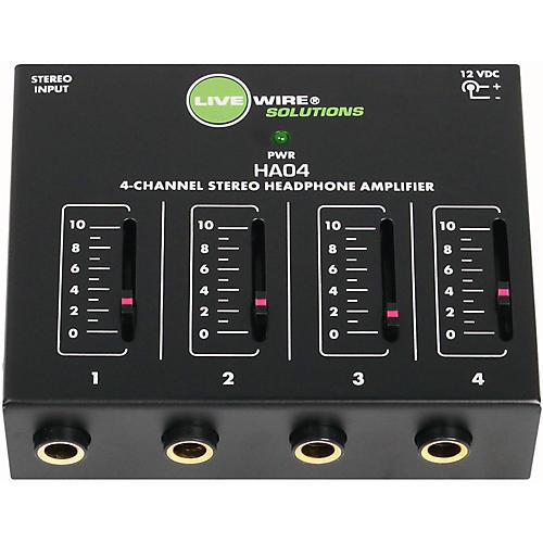 Livewire HA04 4-Channel Stereo Headphone Amplifier