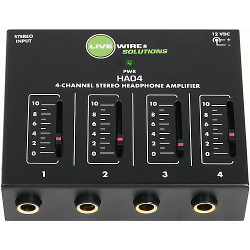 Live Wire Solutions HA04 4-Channel Stereo Headphone Amplifier