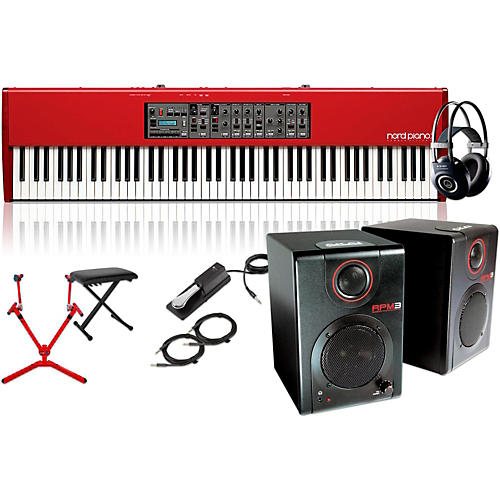 Nord HA88 88-Key with Matching Stand, RPM3 Monitors, Headphones, Bench, and Sustain Pedal-thumbnail