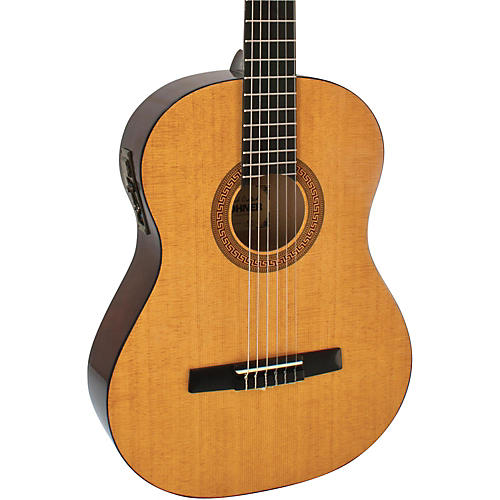 Hohner HC06E Classical Nylon String Acoustic-Electric Guitar Natural