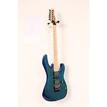 Mitchell HD400 Hard Rock Double Cutaway Electric Guitar Level 2 Transparent Blue 190839110756