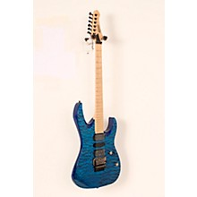 Mitchell HD400 Hard Rock Double Cutaway Electric Guitar Level 2 Transparent Blue 888366040966