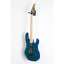 Mitchell HD400 Hard Rock Double Cutaway Electric Guitar Level 3 Transparent Blue 888366074084