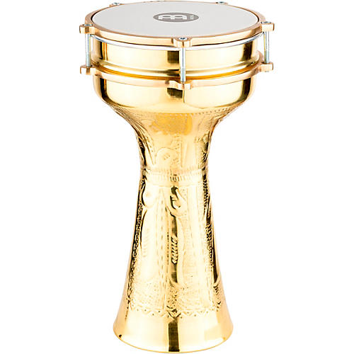 Meinl HE-214 Brass-Plated and Hand-Hammered Copper Darbuka-thumbnail
