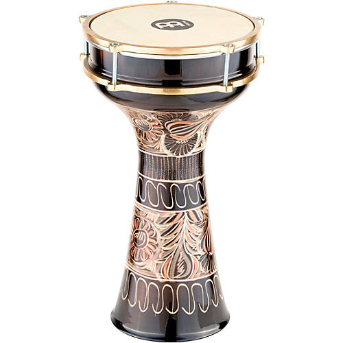 Meinl HE-215 Brass-Plated and Hand-Hammered Copper Darbuka Copper 7.875 In X 15.5 In