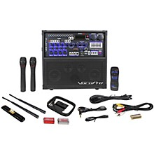 VocoPro HERO-REC VHF Multi-Format Portable P.A. Karaoke System w/ Digital Recorder & VHF Wireless System