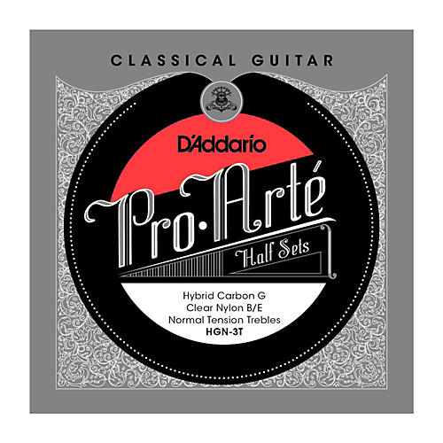 D'Addario HGN-3T Pro-Arte Normal Tension G Classical Guitar Strings Half Set