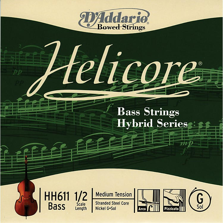D'Addario HH611 Helicore Hybrid 1/2 Size Double Bass G String