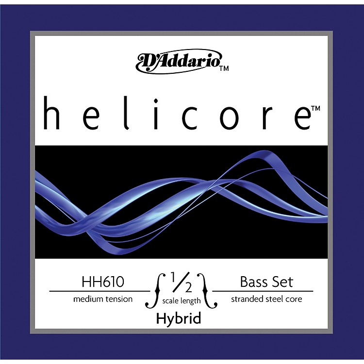 D'Addario HH611 Helicore Hybrid 1/2 Size Double Bass String Set