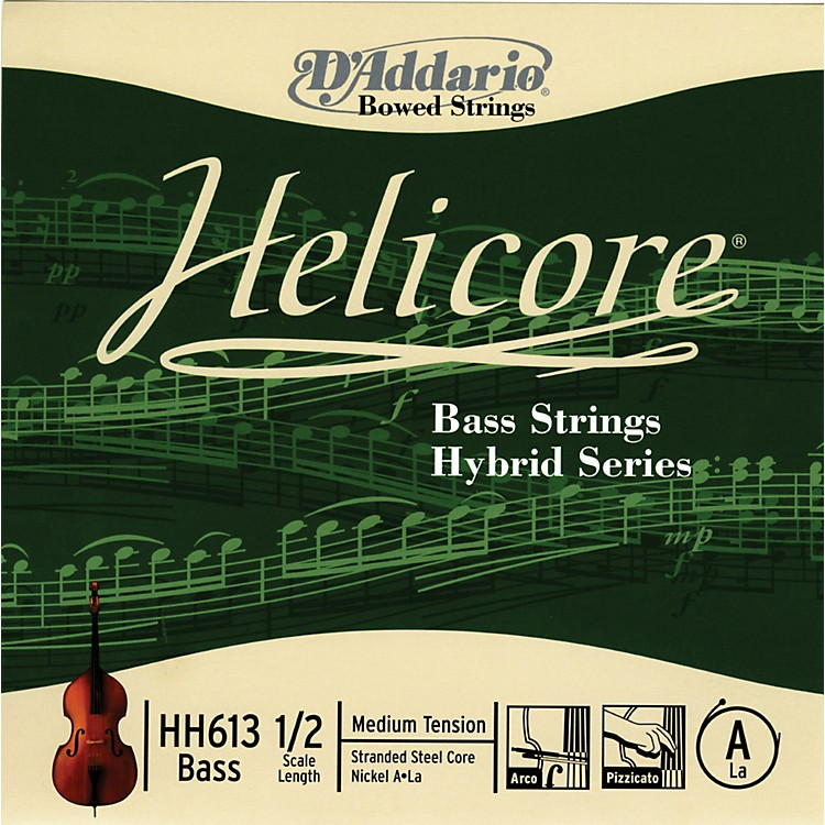 D'Addario HH613 Helicore Hybrid 1/2 Size Double Bass Light A String