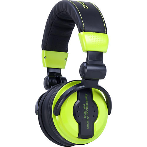 American Audio HP550 Professional Studio Headphones LIME