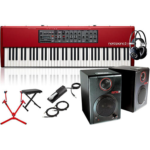 Nord HP73 with Matching Stand, RPM3 Monitors, Headphones, Bench, and Sustain Pedal