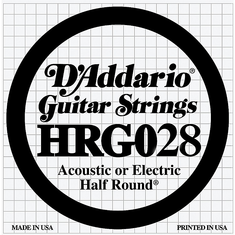 d 39 addario hrg028 half round electric guitar string musician 39 s friend. Black Bedroom Furniture Sets. Home Design Ideas