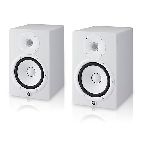 yamaha hs8 white powered studio monitor pair musician 39 s