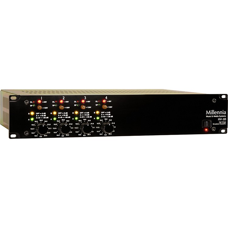 Millennia HV-3D-4 Four Channel Microphone Preamplifier