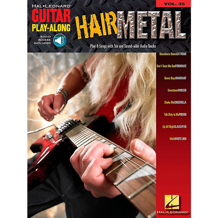 Hal Leonard Hair Metal Guitar Play-Along Series Volume 35 Guitar Tab Songbook with CD