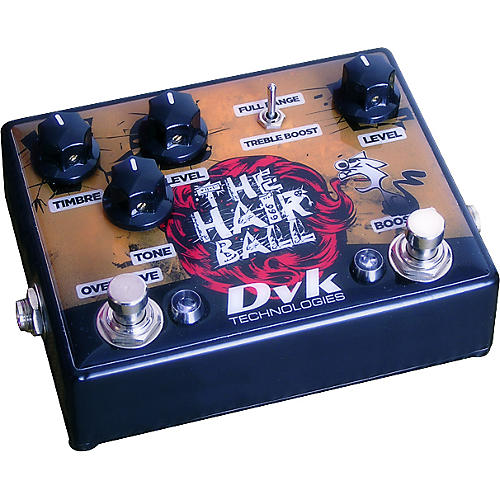 DVK Hairball Fuzz and Boost Guitar Effects Pedal