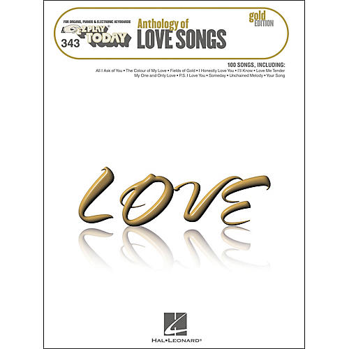 Hal Leonard Hal Leonard Anthology Of Love Songs Gold Edition E-Z Play 343