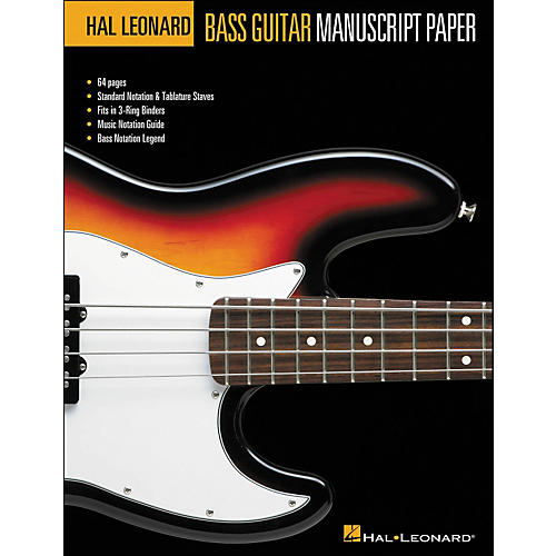 Hal Leonard Hal Leonard Bass Guitar Manuscript Paper (8.5 X11 )