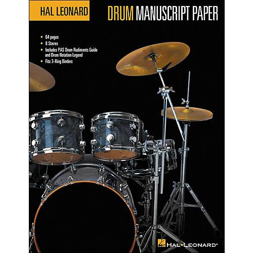 Hal Leonard Hal Leonard Drum Manuscript Paper (8.5 X 11)