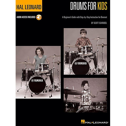 Hal Leonard Hal Leonard Drums for Kids - A Beginner's Guide with Step-by-Step Instruction for Drumset Book/Audio Online-thumbnail