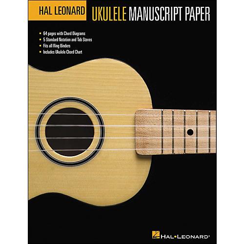 Hal Leonard Hal Leonard Ukulele Manuscript Paper (8.5 X 11) Book