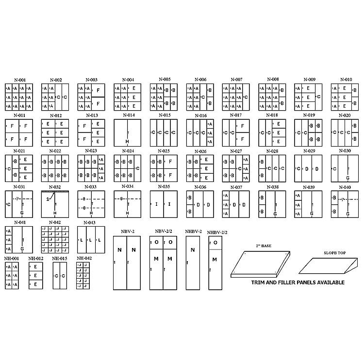 NorrenHalf Unit Instrument Storage CabinetNh-042 W/ 10 Compartments