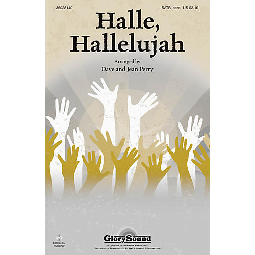 Shawnee Press Halle, Hallelujah! SATB, ACCOMP WITH OPT. PERCUSS arranged by Dave and Jean Perry-thumbnail