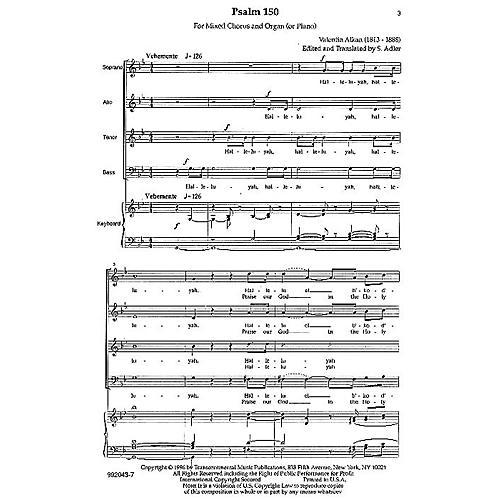 Transcontinental Music Hallelujah (Psalm 150) SATB arranged by Samuel Adler-thumbnail
